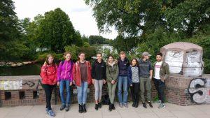 Die Gruppe vor der Alster