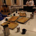 Das erste Essen beim Teamerseminar: Schüttel-Pizza