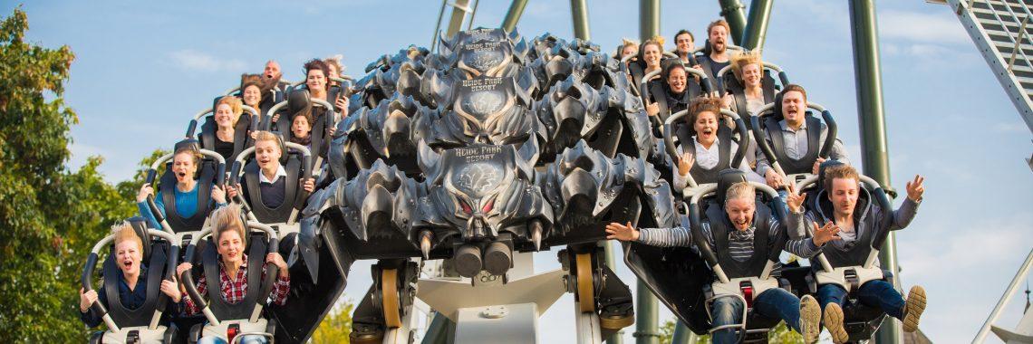 Bild vom Wing-Coaster im Heide Park Resort